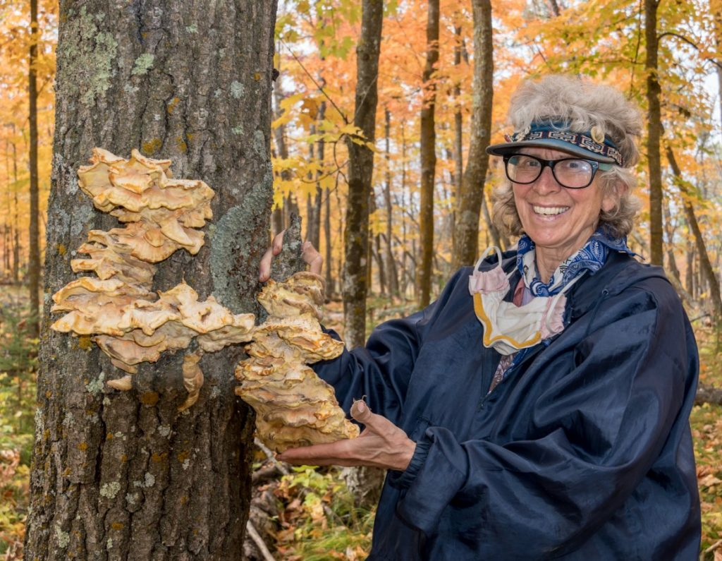 Janet Springer with Laetiporus